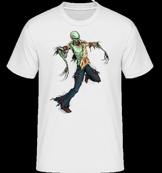 Creepy Zombie - Shirtinator Men's T-Shirt - White - Vorn