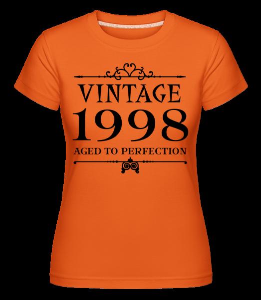 Vintage 1998 Perfection -  Shirtinator Women's T-Shirt - Orange - Vorn