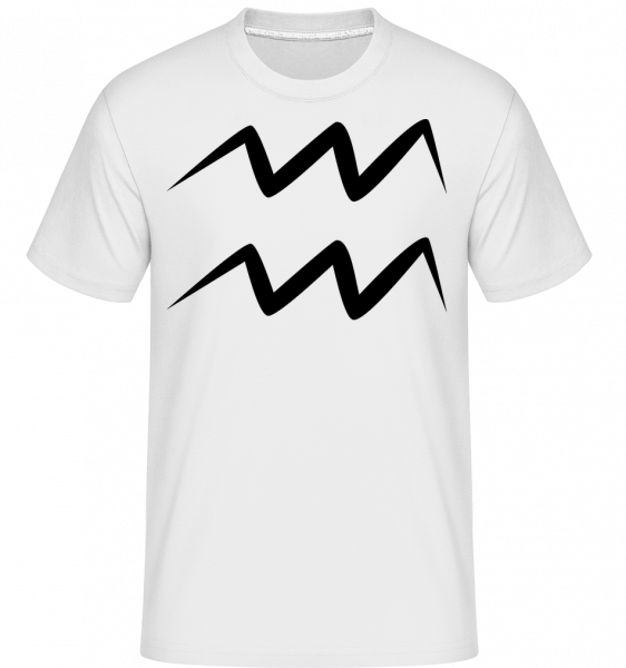 Aquarius Sign - Shirtinator Men's T-Shirt - White - Vorn