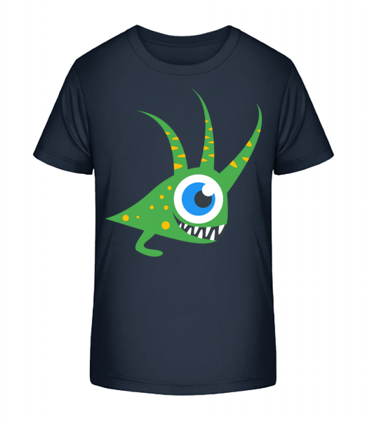 Funny Monster - Kid's Premium Bio T-Shirt - Navy - Vorn