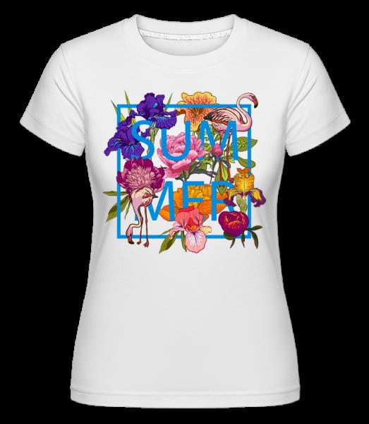 Summer Flowers Sign -  Shirtinator Women's T-Shirt - White - Vorn