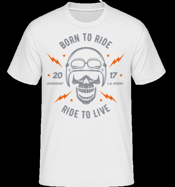 Born To Ride -  Shirtinator Men's T-Shirt - White - Vorn