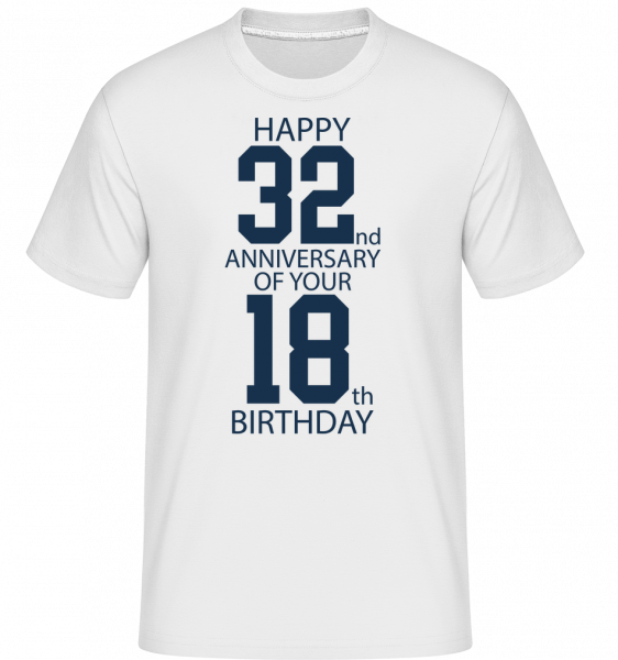 50th Birthday -  Shirtinator Men's T-Shirt - White - Vorn
