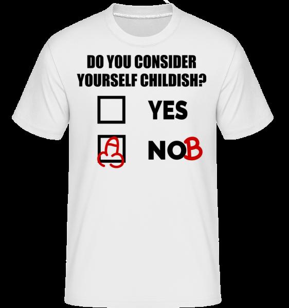 Are You Childish? -  Shirtinator Men's T-Shirt - White - Vorn