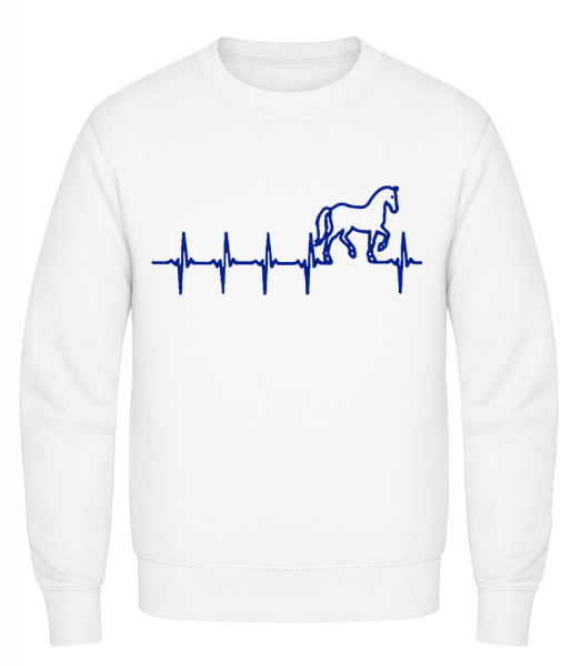 Horse Heartbeat - Classic Set-In Sweatshirt - White - Vorn