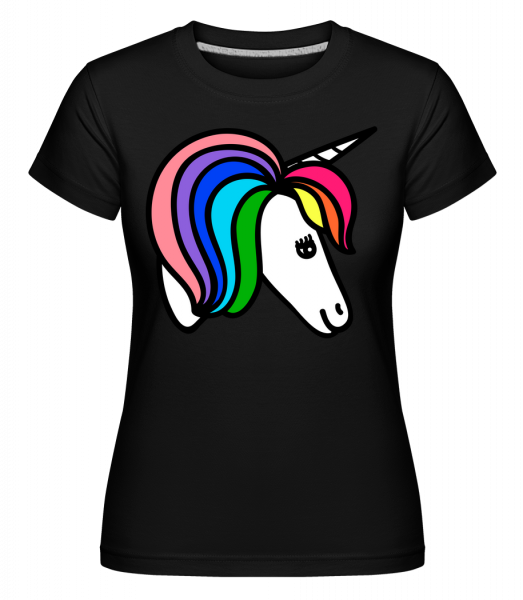 Unicorn Rainbow - Shirtinator Women's T-Shirt - Black - Vorn