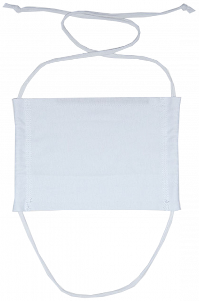 Mouth and Nose Mask - White - Vorn