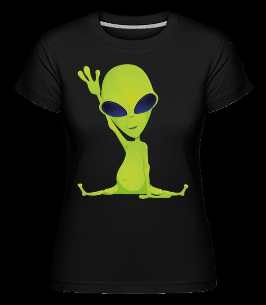Alien Does Yoga - Shirtinator Women's T-Shirt - Black - Vorn