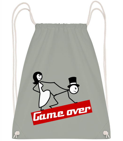 Game Over - Drawstring Backpack - Anthracite - Vorn