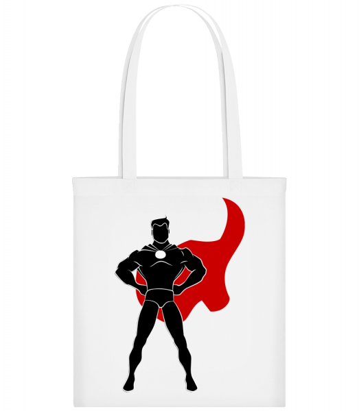 Superhero Standing - Carrier Bag - White - Vorn