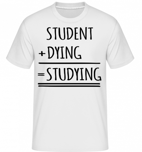 Studying Definition -  Shirtinator Men's T-Shirt - White - Vorn