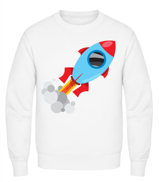 Superhero Rocket - Classic Set-In Sweatshirt - White - Vorn