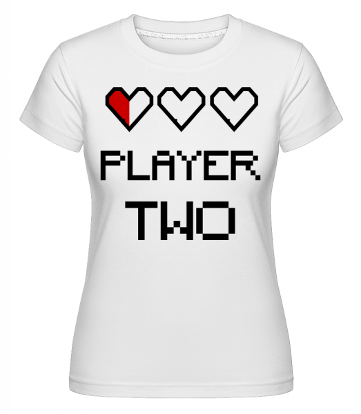Player Two -  Shirtinator Women's T-Shirt - White - Vorn
