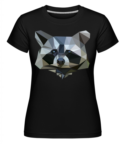 Polygon Racoon -  Shirtinator Women's T-Shirt - Black - Vorn