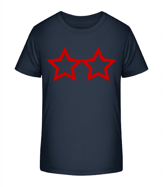 Two Stars - Kid's Premium Bio T-Shirt - Navy - Vorn