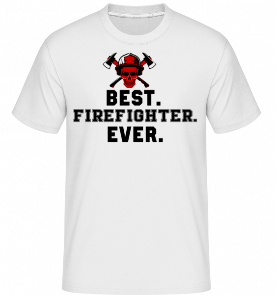Best Firefighter Ever - Shirtinator Men's T-Shirt - White - Vorn