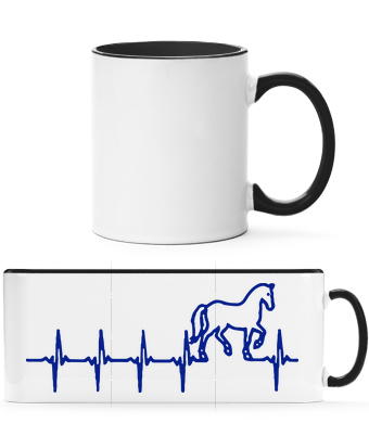 Horse Heartbeat - Two-toned Mug - White - Vorn
