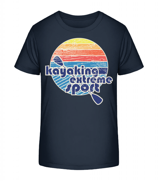 Kayaking Logo - Kid's Premium Bio T-Shirt - Navy - Vorn