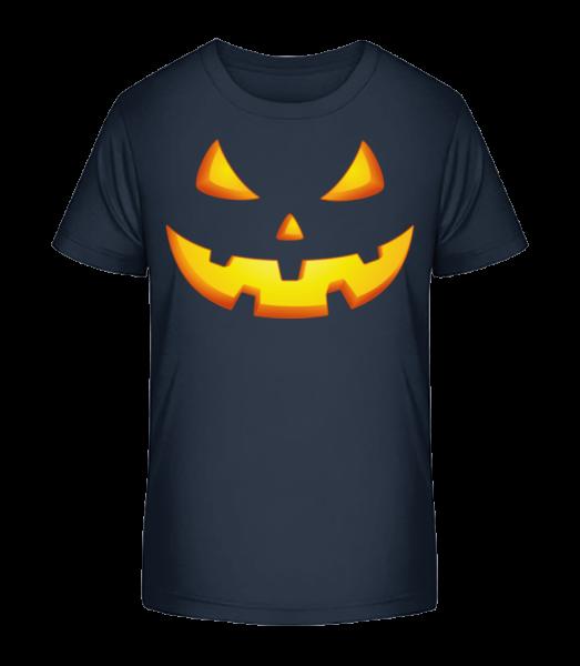 Pumpkin Face Evil - Kid's Premium Bio T-Shirt - Navy - Vorn