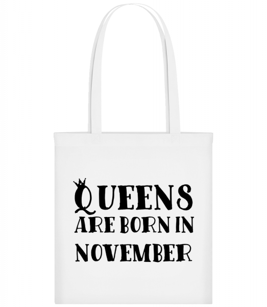 Queens Are Born In November - Carrier Bag - White - Vorn
