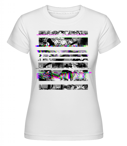 Broken Image - Shirtinator Women's T-Shirt - White - Vorn