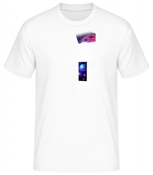 Universe House - Men's Basic T-Shirt - White - Vorn