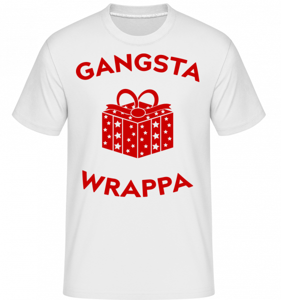Gangsta Wrappa -  Shirtinator Men's T-Shirt - White - Vorn