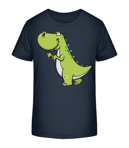 Funny Cartoon Dinosaur - Kid's Premium Bio T-Shirt - Navy - Vorn