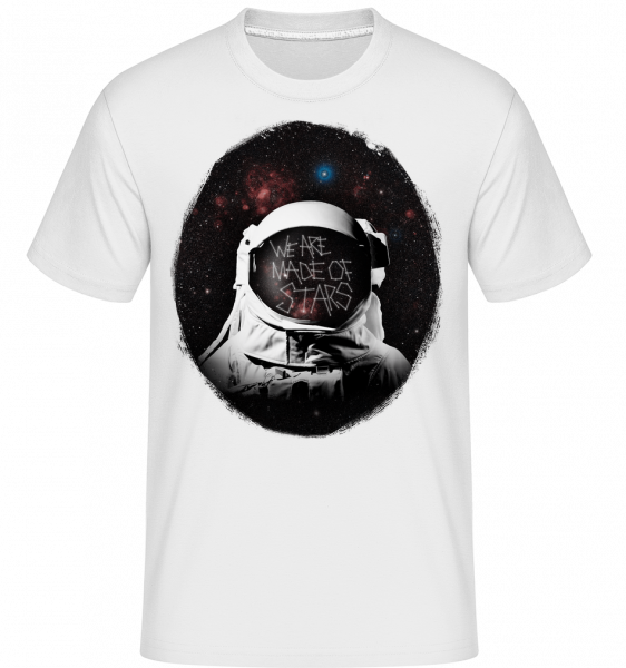 We Are Made Of Stars -  Shirtinator Men's T-Shirt - White - Vorn