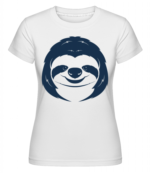 Cute Sloth Face - Shirtinator Women's T-Shirt - White - Vorn