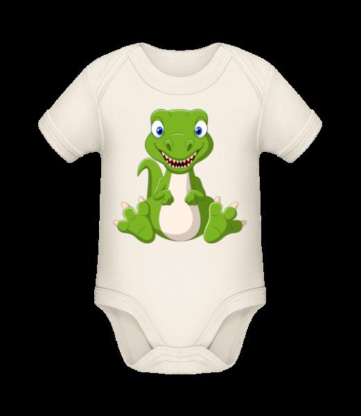 Naughty Dinosaur - Organic Baby Body - Cream - Vorn