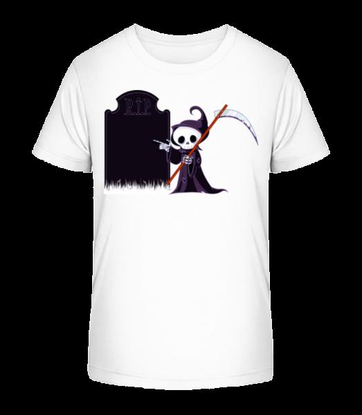 Death Rest In Peace - Kid's Premium Bio T-Shirt - White - Vorn