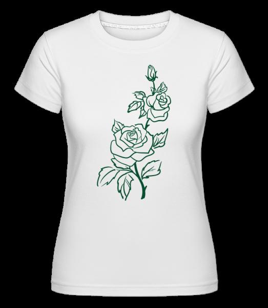 Rose Comic - Shirtinator Women's T-Shirt - White - Vorn