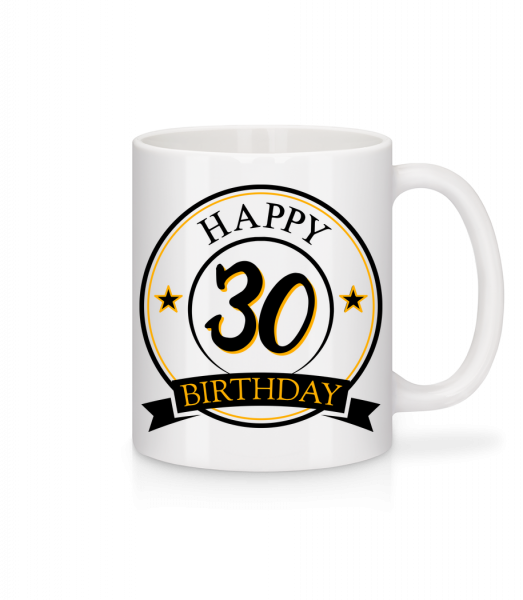 Happy Birthday 30 - Mug - White - Vorn