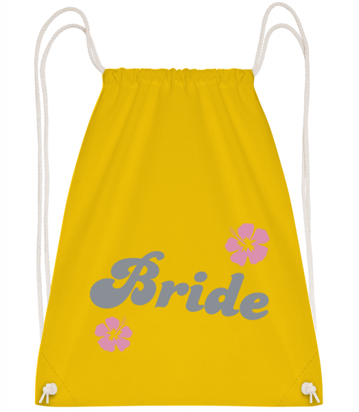 Bride - Drawstring Backpack - Yellow - Vorn