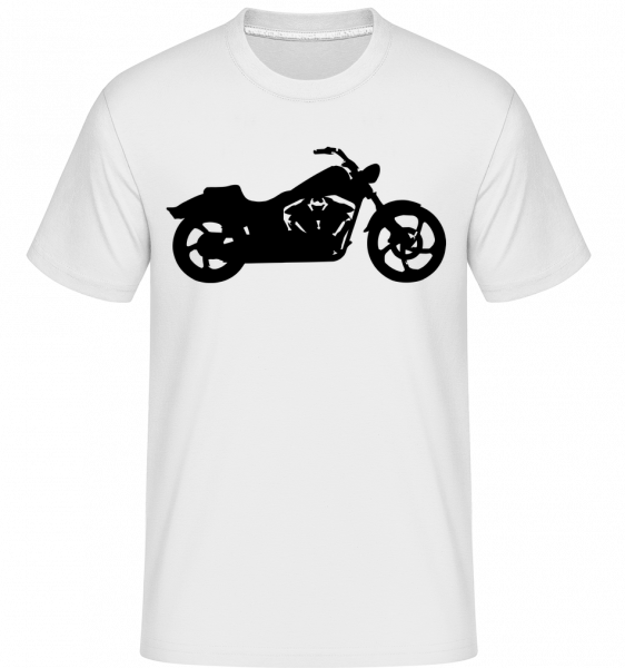 Motorcycle Shadow - Shirtinator Men's T-Shirt - White - Vorn