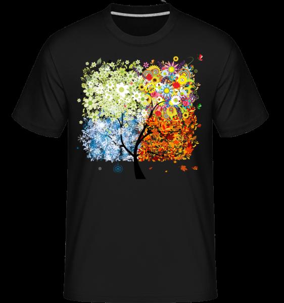 Four Seasons Tree - Shirtinator Men's T-Shirt - Black - Vorn