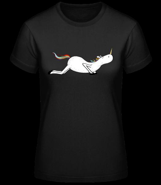 Yoga unicorn pushups - Basic T-Shirt - Black - Vorn