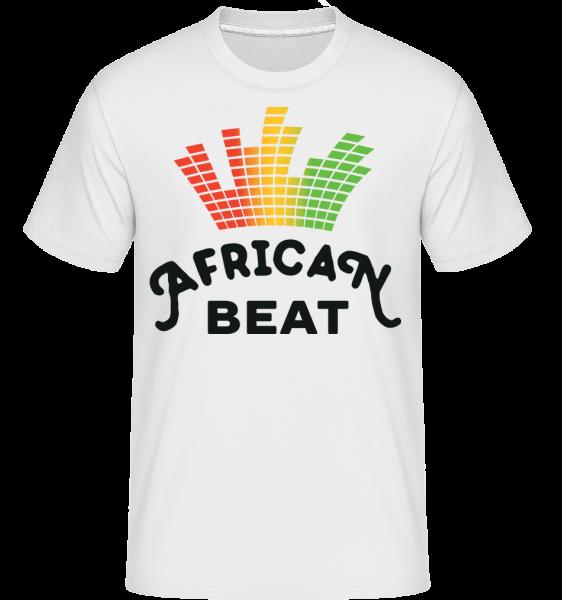 African Beat -  Shirtinator Men's T-Shirt - White - Vorn