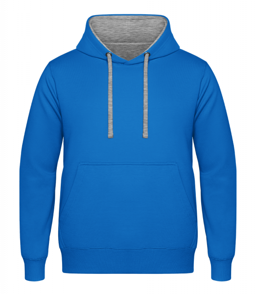 Unisex Two-Toned Hoodie - Light blue - Vorn
