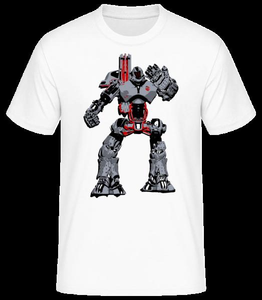 Fighting Robots - Men's Basic T-Shirt - White - Vorn