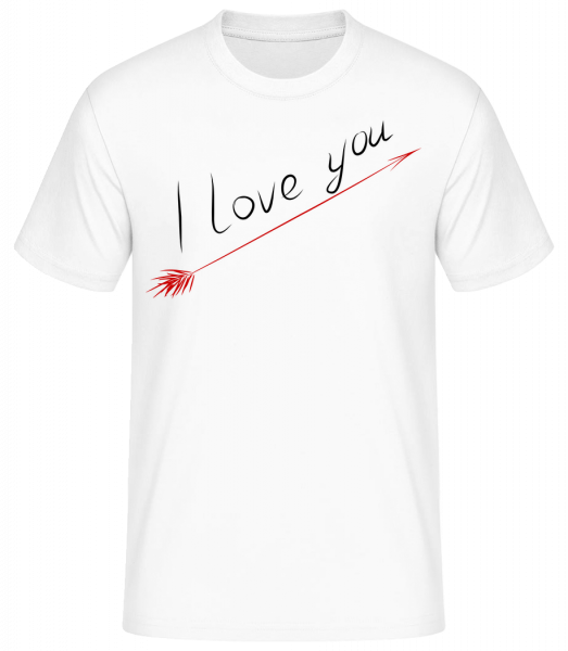 I Love You - Basic T-shirt - White - Vorn