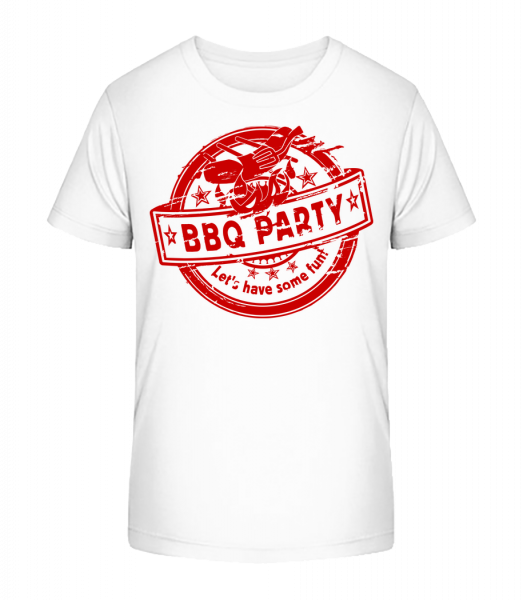 BBQ Party Sign - Kid's Premium Bio T-Shirt - White - Vorn