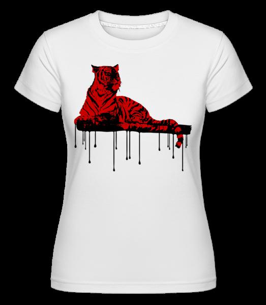 Red Tiger -  Shirtinator Women's T-Shirt - White - Vorn