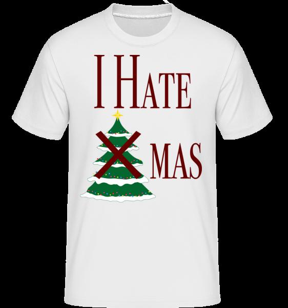 I Hate Xmas - Shirtinator Men's T-Shirt - White - Vorn