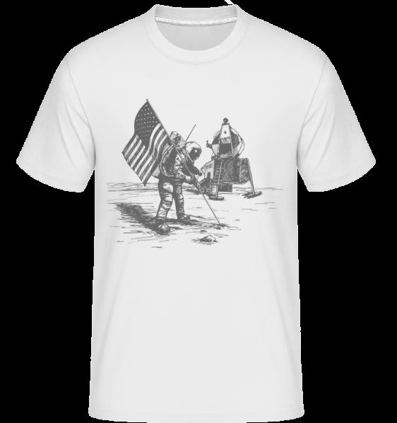 Moon Landing Apollo -  Shirtinator Men's T-Shirt - White - Vorn