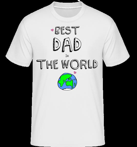 Best Dad In The World - Shirtinator Men's T-Shirt - White - Vorn