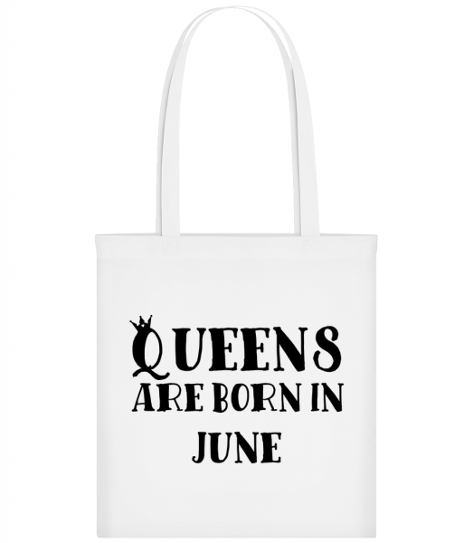 Queens Are Born In June - Carrier Bag - White - Vorn