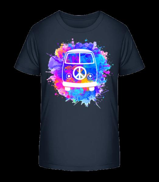 Hippie Bus - Kid's Premium Bio T-Shirt - Navy - Vorn