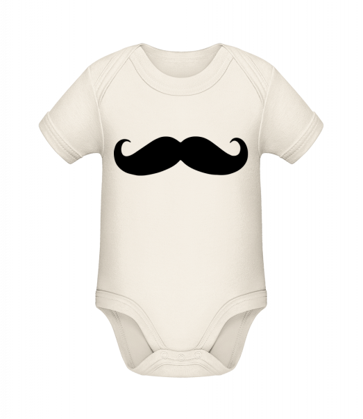 Mustache - Organic Baby Body - Cream - Vorn